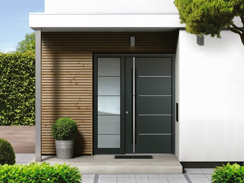 Aluminum doors with a newly applied color that suits your home